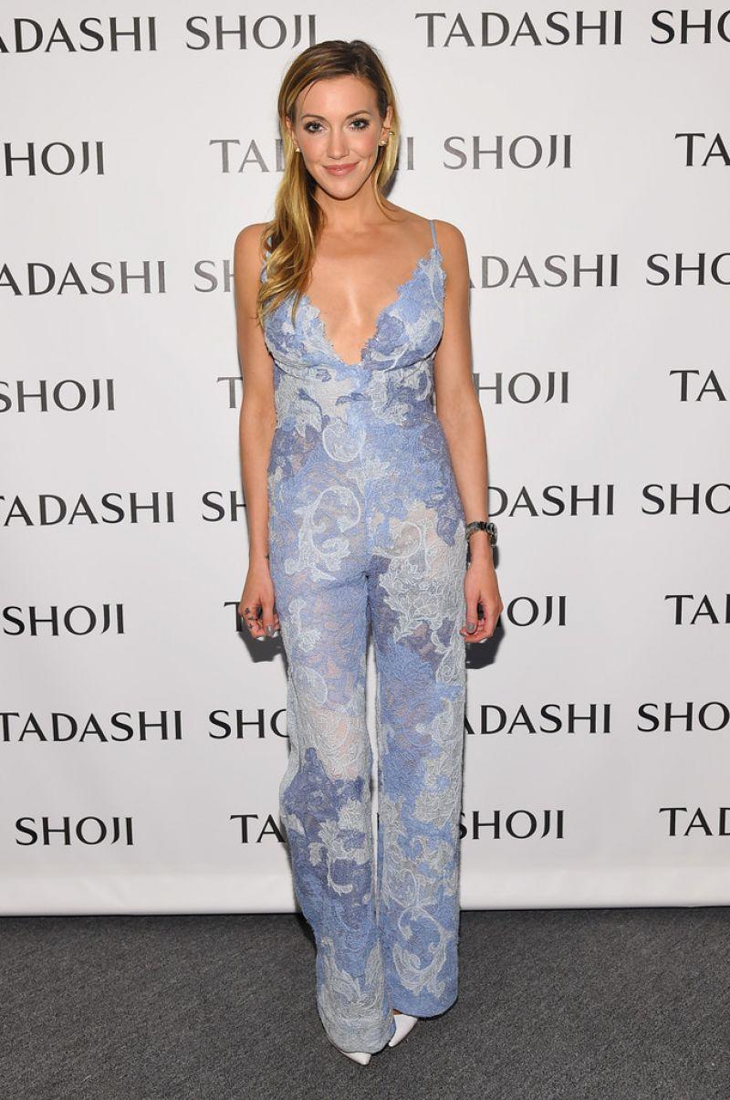 KATIE CASSIDY at Tadashi Shoji Fashion Show at New York Fashion Wek 09/09/2016
