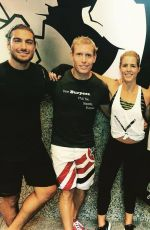 KATIE CASSIDY at UFC Training with Cast of Arrow in Vancouver 09/01/2016