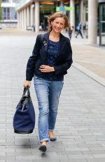 KATIE DERHAM Leaves BBC Breakfast Studios in Manchester 09/02/2016