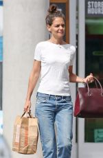 KATIE HOLMES Out for Shopping in Westlake Village 09/27/2016