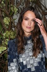 KEIRA KNIGHTLEY at Chanel Fine Jewelry Dinner at Bergdorf Goodman in New York 09/06/2016