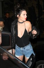 KENDALL and KYLIE JENNER at Catch Restaurant in West Hollywood 09/23/2016