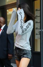 KENDALL JENNER Leaves Her Hotel in New York 09/08/2016