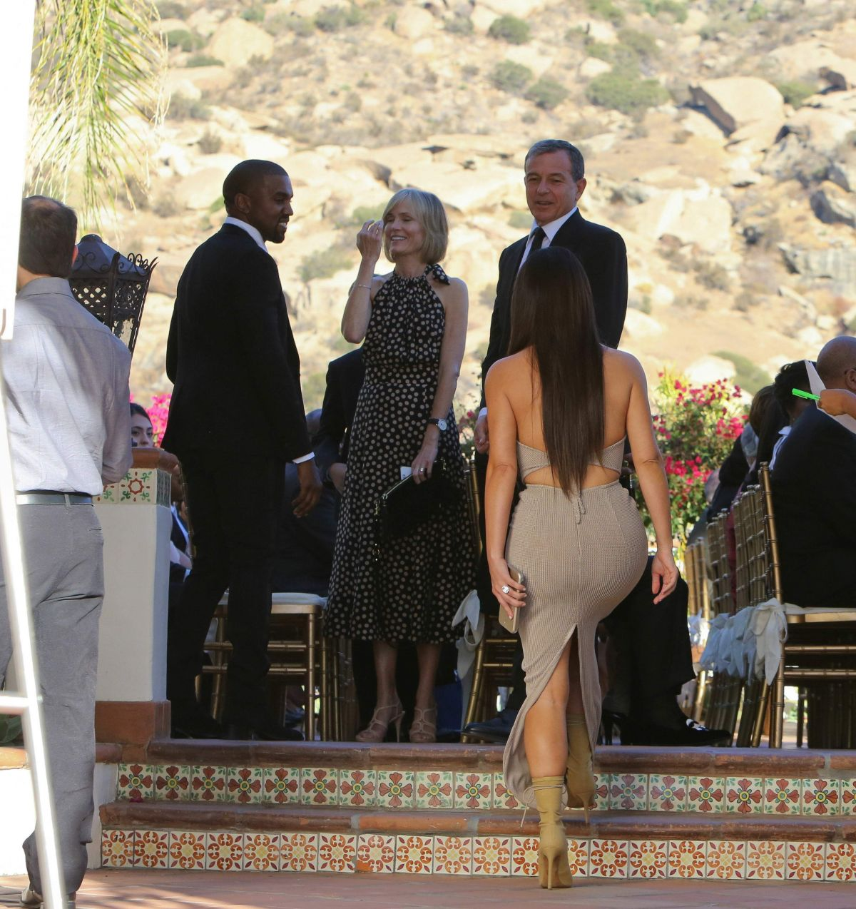 Kim Kardashian And Kanye West At Wedding Of Their Friends In Simi Valley 09 23