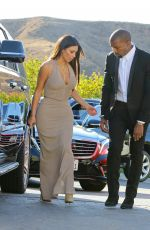 KIM KARDASHIAN and Kanye West at Wedding of Their Friends in Simi Valley 09/23/2016