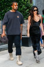 KIM KARDASHIAN and Kanye West Out in New York 09/14/2016
