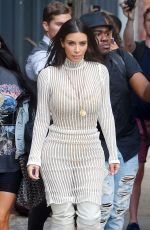 KIM KARDASHIAN Arrives Kylie and Kendall Jenner Pop Up Event in New York 09/07/2016