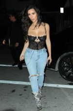 KIM KARDASHIAN in Ripped Jeans Out in Miami 09/15/2016