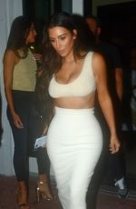 KIM KARDASHIAN Out for Dinner in Miami 09/19/2016