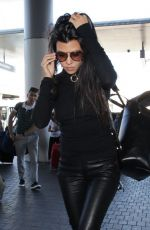 KOURTNEY KARDASHIAN at LAX Airport in Los Angeles 09/28/2016