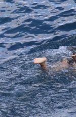 KOURTNEY KARDASHIAN in Swimsuit at a Boat in Capri 09/04/2016