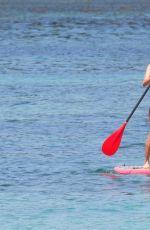 KRISTINA CAVALLARI in Bikini Paddleboarding in Bali 09/10/2016