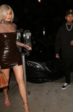 KYLIE JENNER Night Out in Los Angeles 09/22/2016