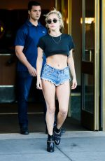 LADY GAGA in Cut Off Jeans Out in New York 09/24/2016