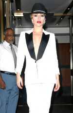 LADY GAGA Leaves Her Apartment in New York 09/22/2016