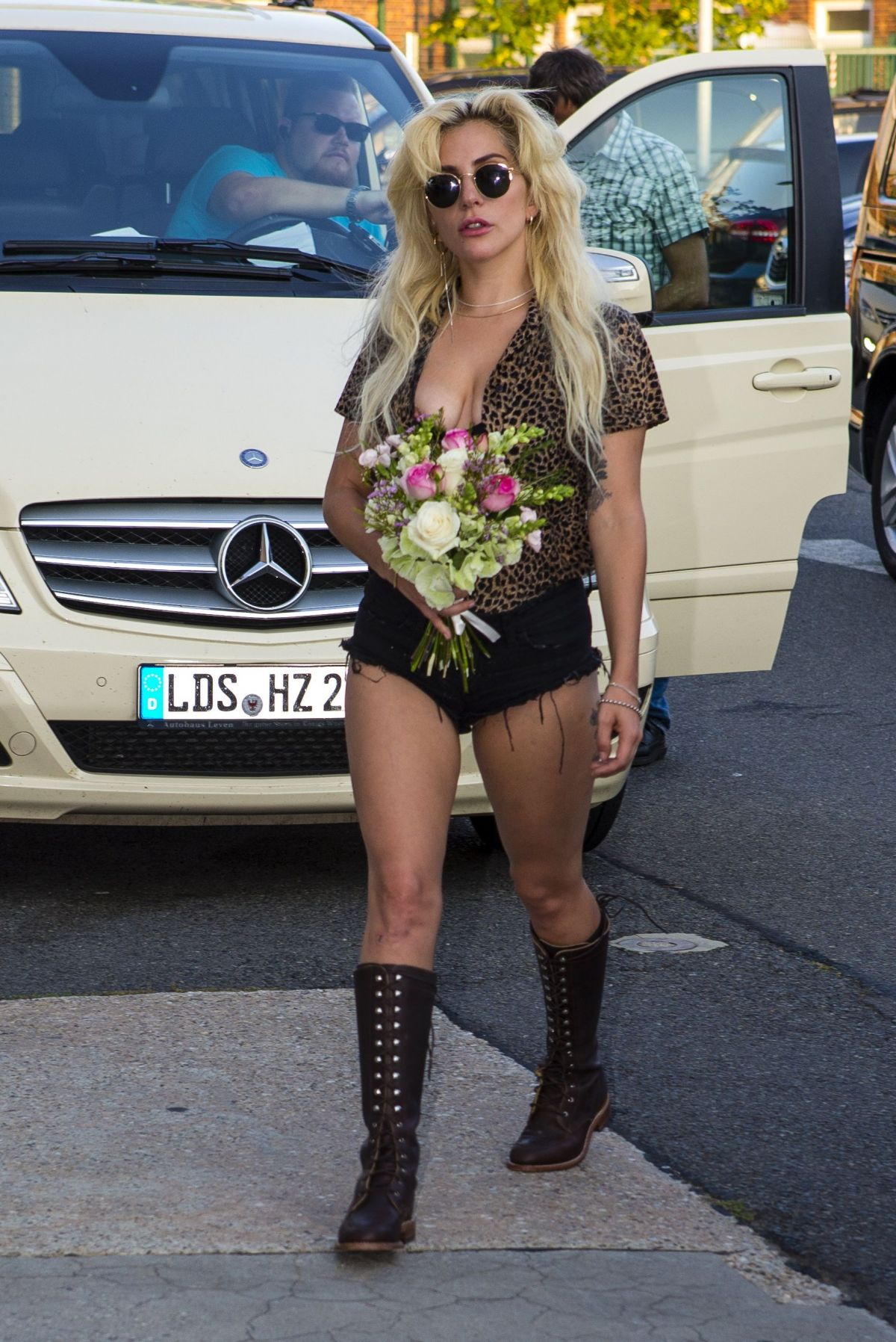 LADY GAGA Out and About in Berlin 09/08/2016