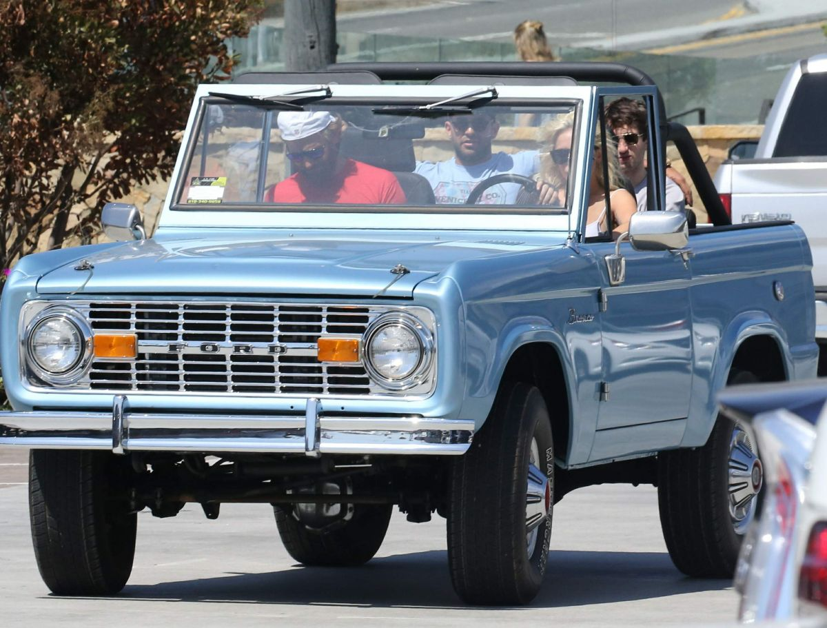 LADY GAGA Driving Her Ford Bronco Out In Malibu 09 04 2016