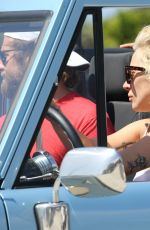 LADY GAGA Driving Her Ford Bronco Out in Malibu 09/04/2016