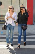 LEA MICHELLE and BECCA TOBIN Out Shopping in West Hollywood 09/15/2016