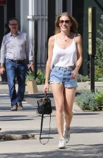 LEANN RIMES in Denim Shorts and Halter Top Out in Los Angeles 09/16/2016