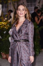 LILY JAMES at Burberry Fashion Show at London Fashion Week 09/19/2016