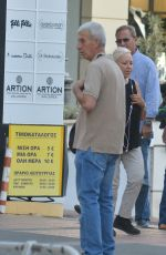 LINDSAY LOHAN Out and About in Athens 09/09/2016