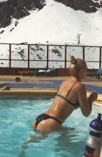 LINDSEY VONN in Bikini Working Out in a Pool, 09/13/2016 Instagram Caps