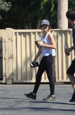 LUCY HALE at Starbucks in Los Angeles 09/28/2016