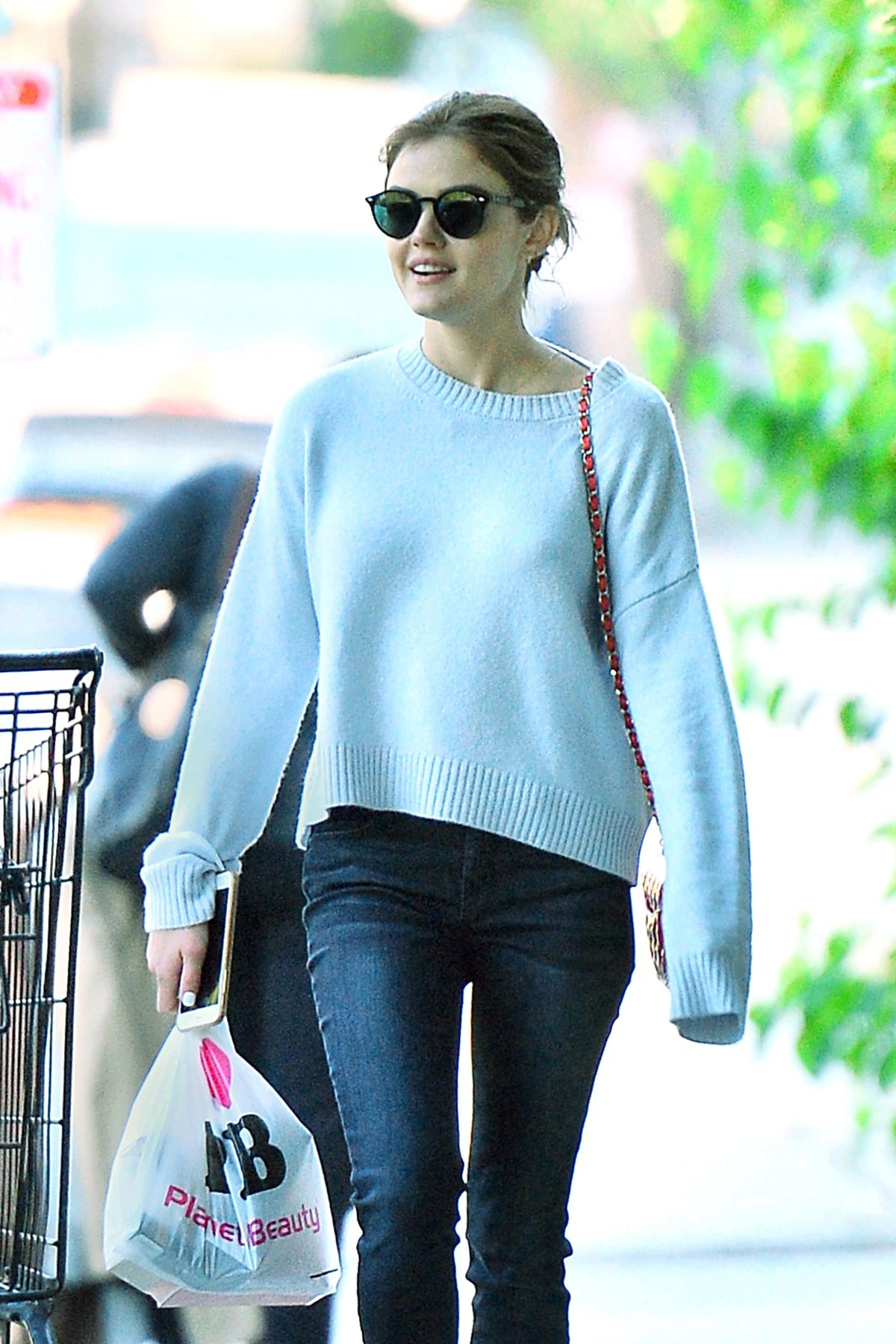 LUCY HALE Out and About in Studio City 09/28/2016