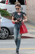 LUCY HALE Out Shopping in Los Angeles 09/12/2016