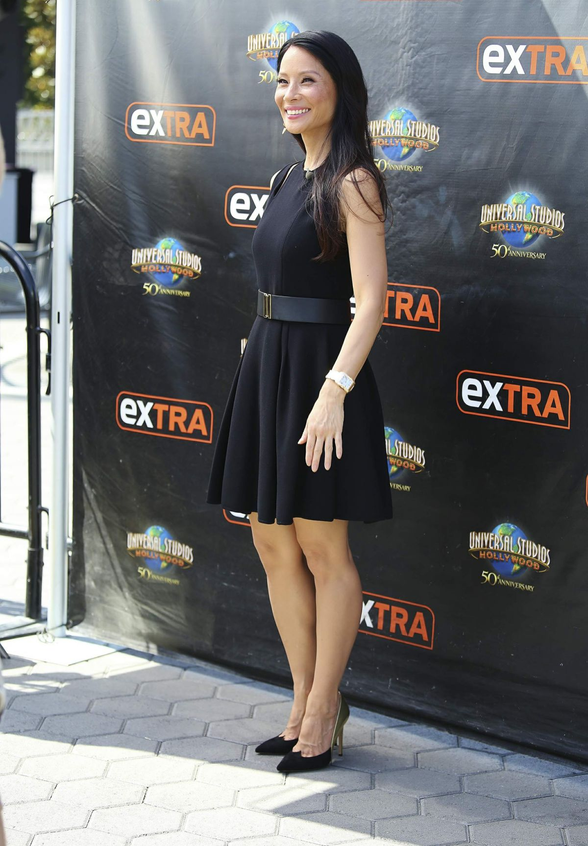 LUCY LIU Leves 'Extra' at Universal Studios in Hollywood ...