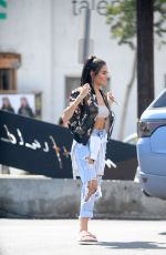 MADISON BEER in Ripped Jeans Out Shopping in West Hollywood 09/05/2016