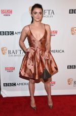 MAISIE WILLIAMS at BBC America Bafta Los Angeles TV Tea Party 2016 in West Hollywood 09/17/2016