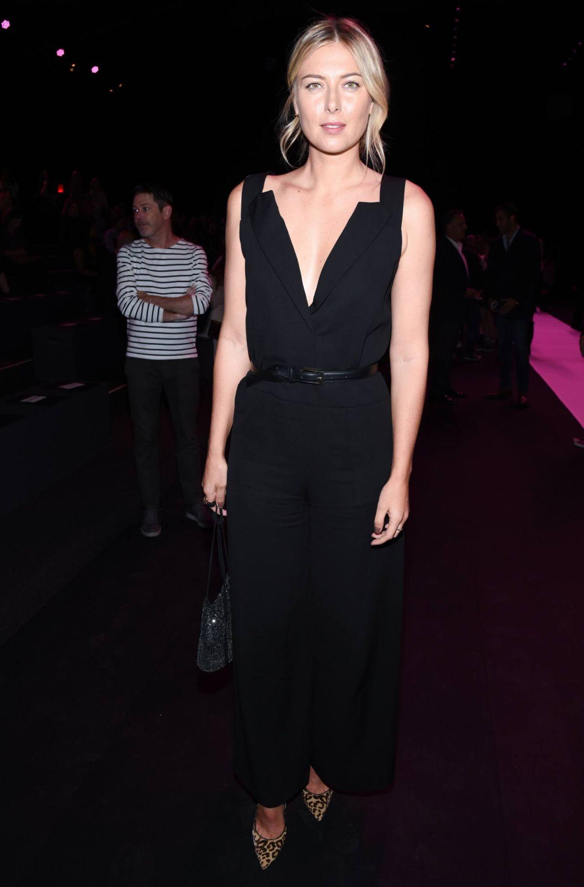MARIA SHARAPOVA at Vera Wang Fashio Show at New York Fashion Week 09/13/2016