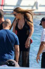MARIAH CAREY at a Yacht in Mykonos 09/14/2016