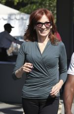 MARILU HENNER on the Set of Extra in Universal City 08/30/2016