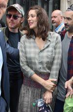 MARION COTILLARD Leaves RTL Radio in Paris 09/15/2016