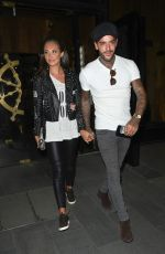 MEGAN MCKENNA Leaves Tattu Restaurant in Manchester 09/15/2016