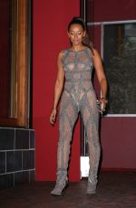 MELANIE BROWN in Jumpsuit Out for Dinner in West Hollywood 08/22/2016