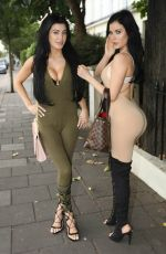 MELISSA and CARLA HOWE Out and About in London 09/03/2016