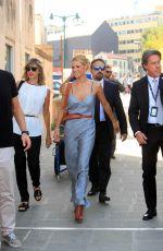 MICHELLE HUNZIKER Arrives in Venice 09/02/2016