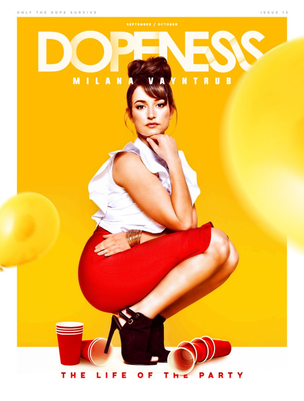 MILANA VAYNTRUB in Dopeness Magazine, September/October 2016 Issue
