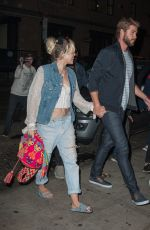 MILEY CYRUS Night Out in New York 09/16/2016