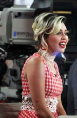 MILEY CYRUS on the Set of Today Show in New York 09/16/2016