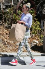 MILEY CYRUS Out Shopping in Los Angeles 09/09/2016