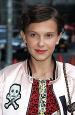 MILLIE BOBBY BROWN at The Late Show with Stephen Colbert in New York 09/13/2016