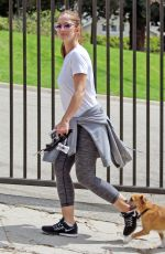 MINKA KELLY Walks Her Dog Out in Hollywood Hills 09/12/2016