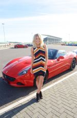 MOLLIE KING at Ferrari California T Experience Day at Silverstone Stowe Circuit 09/23/2016
