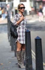 MYLEENE KLASS Out in London 09/08/2016