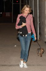 NAOMI WATTS Walks Her Dog Out in New York 09/26/2016